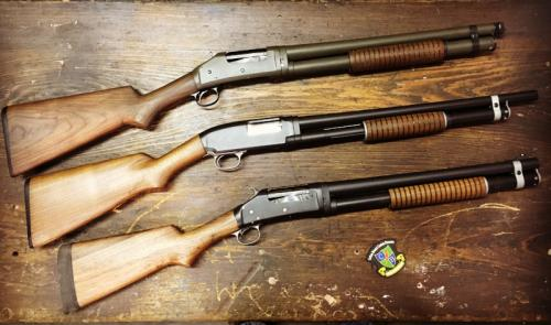 Old Winchester pump shotguns